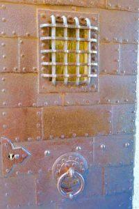 Secure cell door